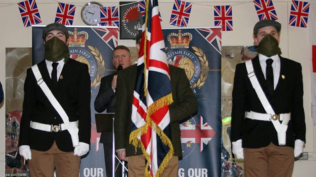 """Britain First: """"If you overstep the mark you will find us on your doorstep."""""""