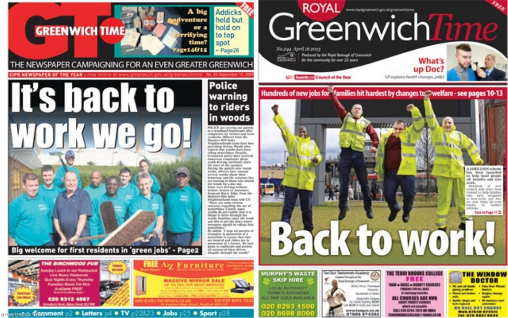 Greenwich Time accused of spreading 'propaganda on the rates'