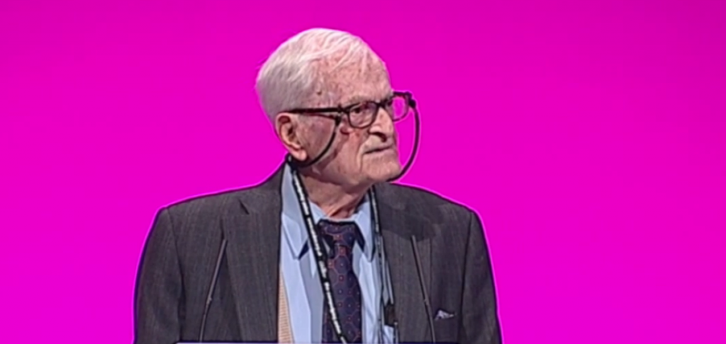 Harry Leslie Smith at the Labour conference yesterday