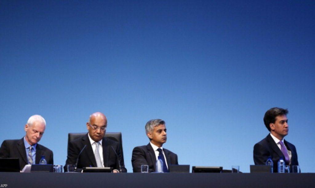 Ed Miliband alongside his close ally Sadiq Khan