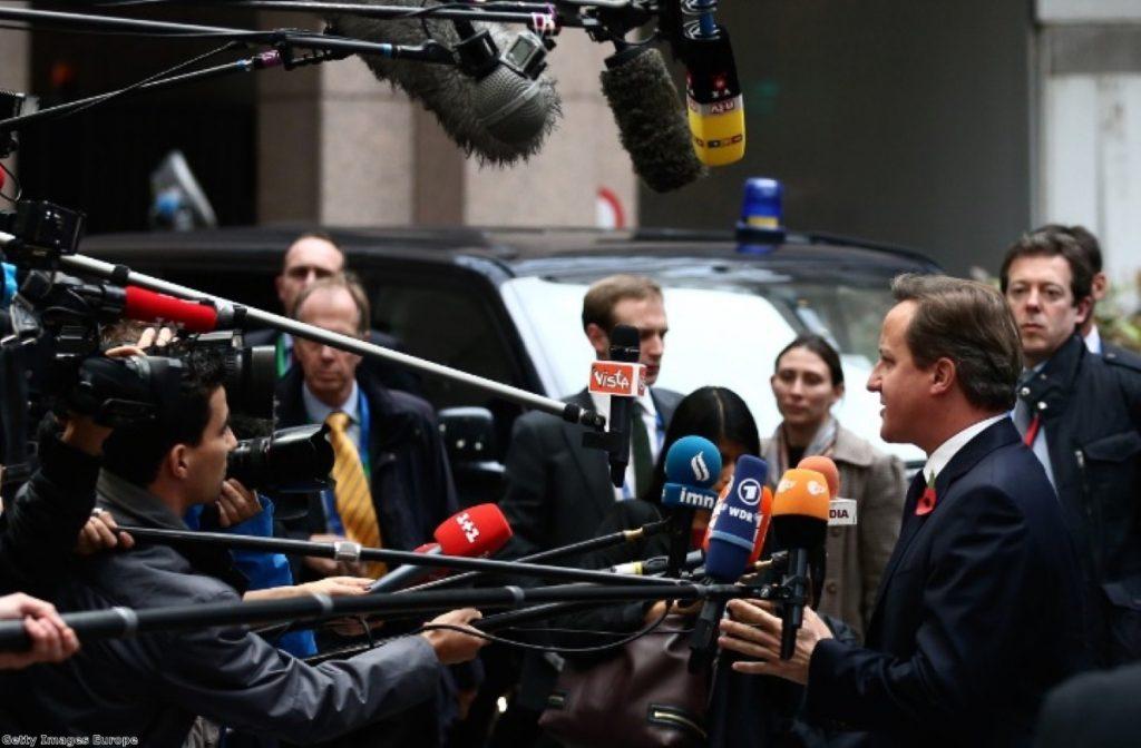 David Cameron finds himself under huge pressure in Brussels