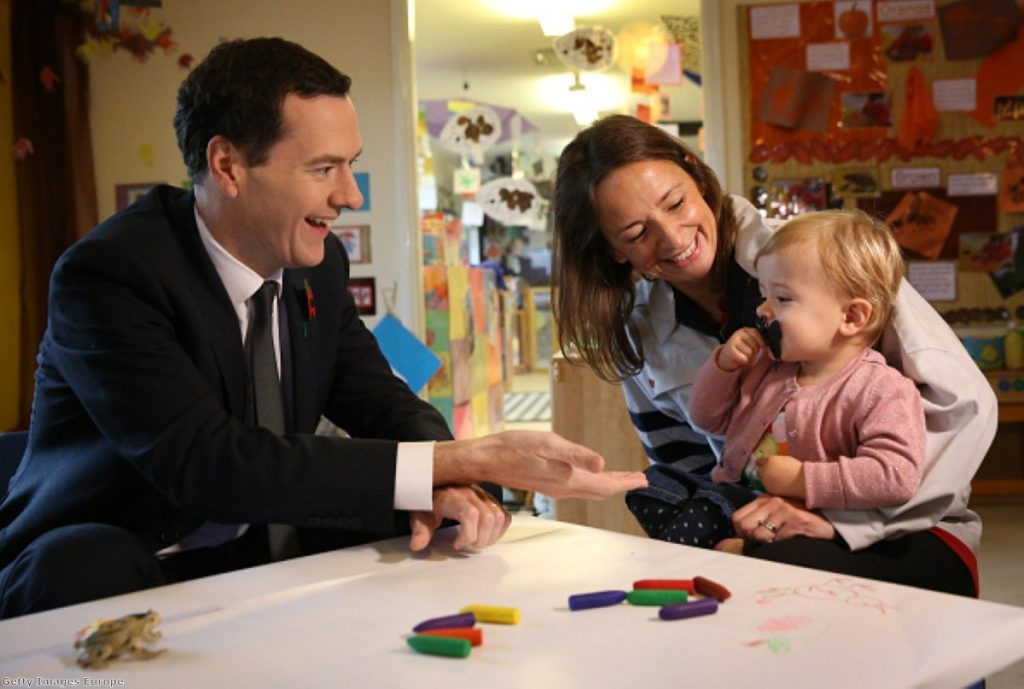 Hand it over: Osborne poses as the moral guardian of taxpayer money