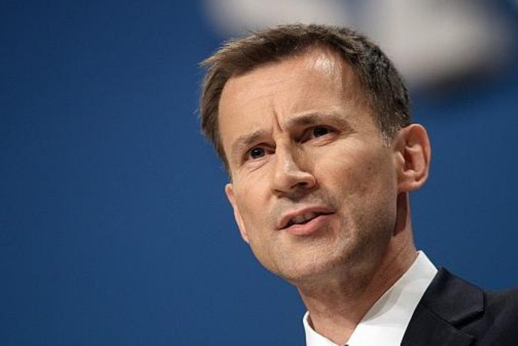 """Jeremy Hunt: """"There is no such thing as a free health service"""""""