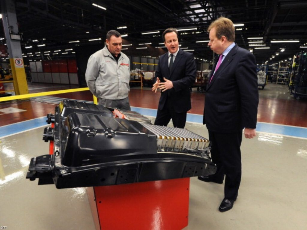 """David Cameron promoting the """"future of driving"""" last year"""