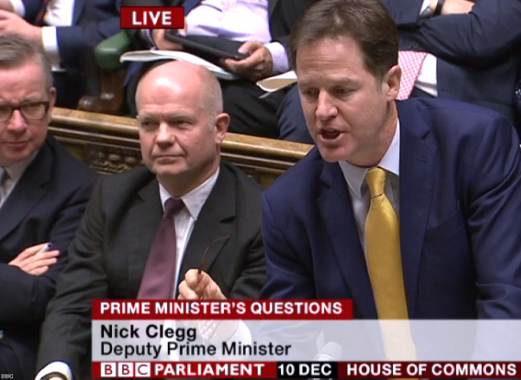 Nick Clegg: Like a battered hostage wheeled out in front of the cameras