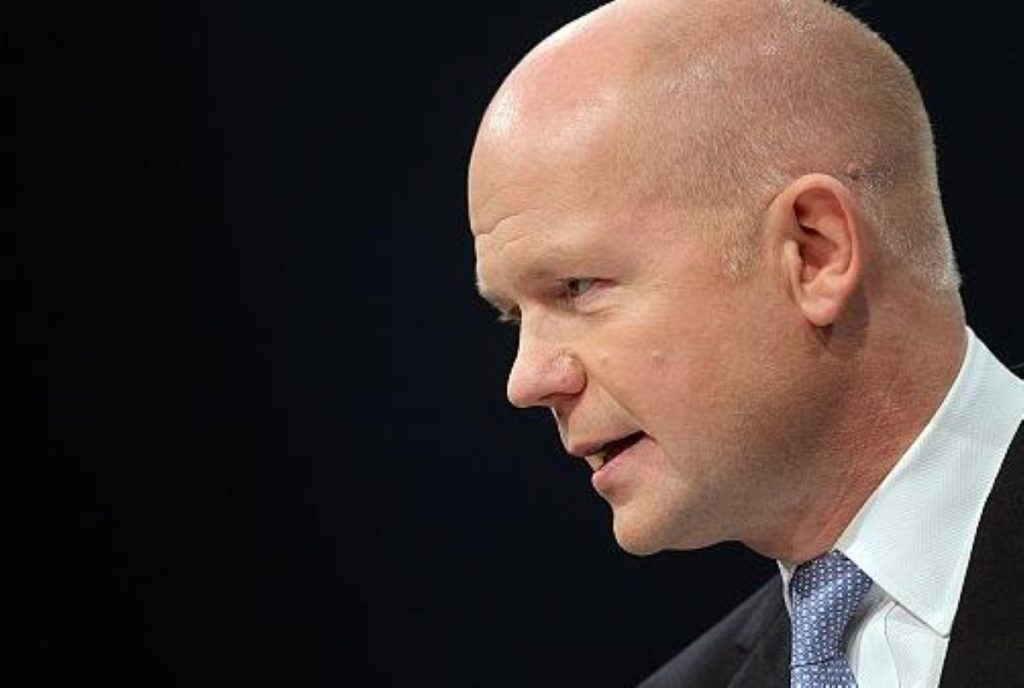 William Hague outlines the Conservatives' answer to the West Lothian Question today