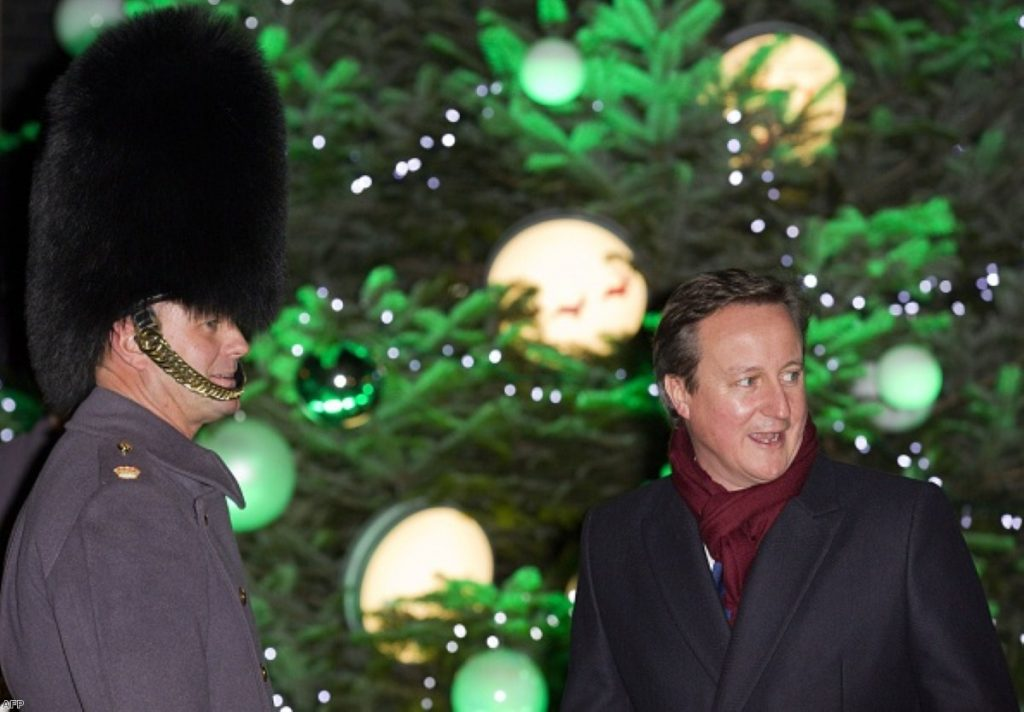 David Cameron celebrating the arrival of Christmas