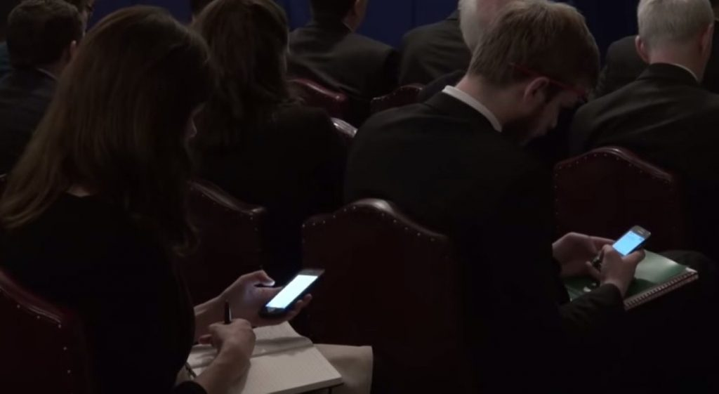 Phones in parliament: The authorities are now realising there might be something in this