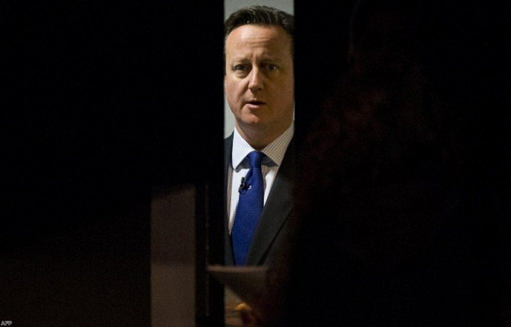 David Cameron prepares to speak to business leaders last week