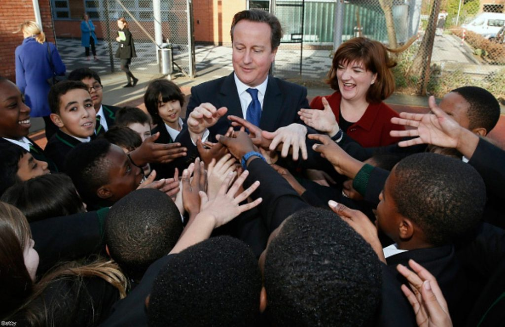David Cameron and Nicky Morgan visit a school in South London