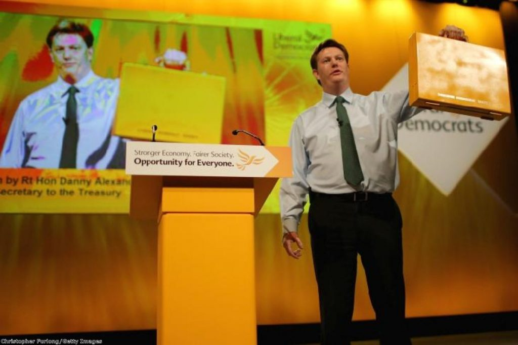 Danny Alexander's baffling yellow or possibly orange box