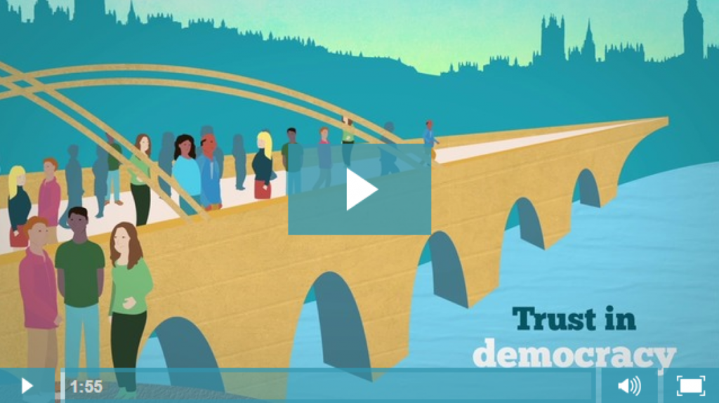 """Only 25% of people """"trust"""" Parliament, but 50% trust the overall democratic process. So how can we bridge the divide?"""