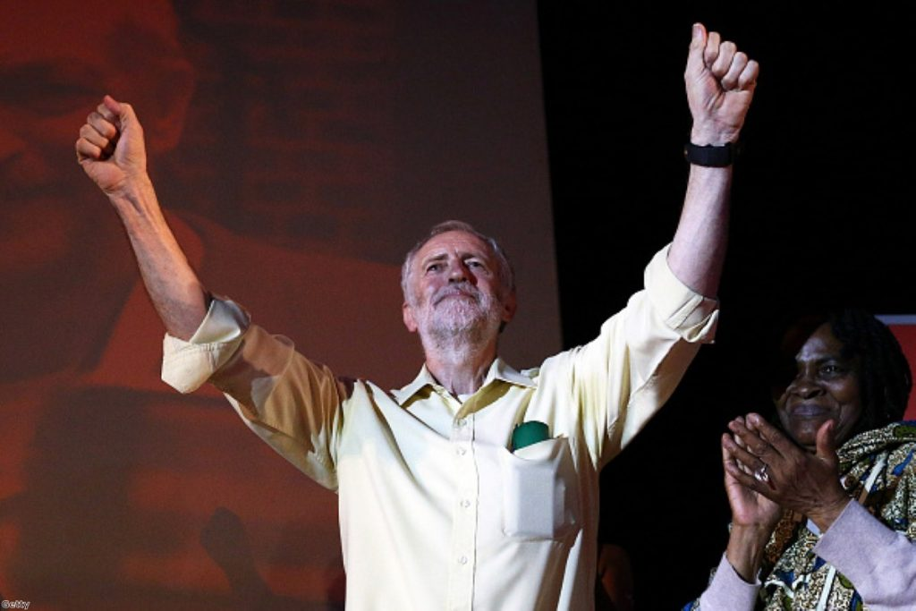 Victorious: Corbyn an easy winner at PMQs