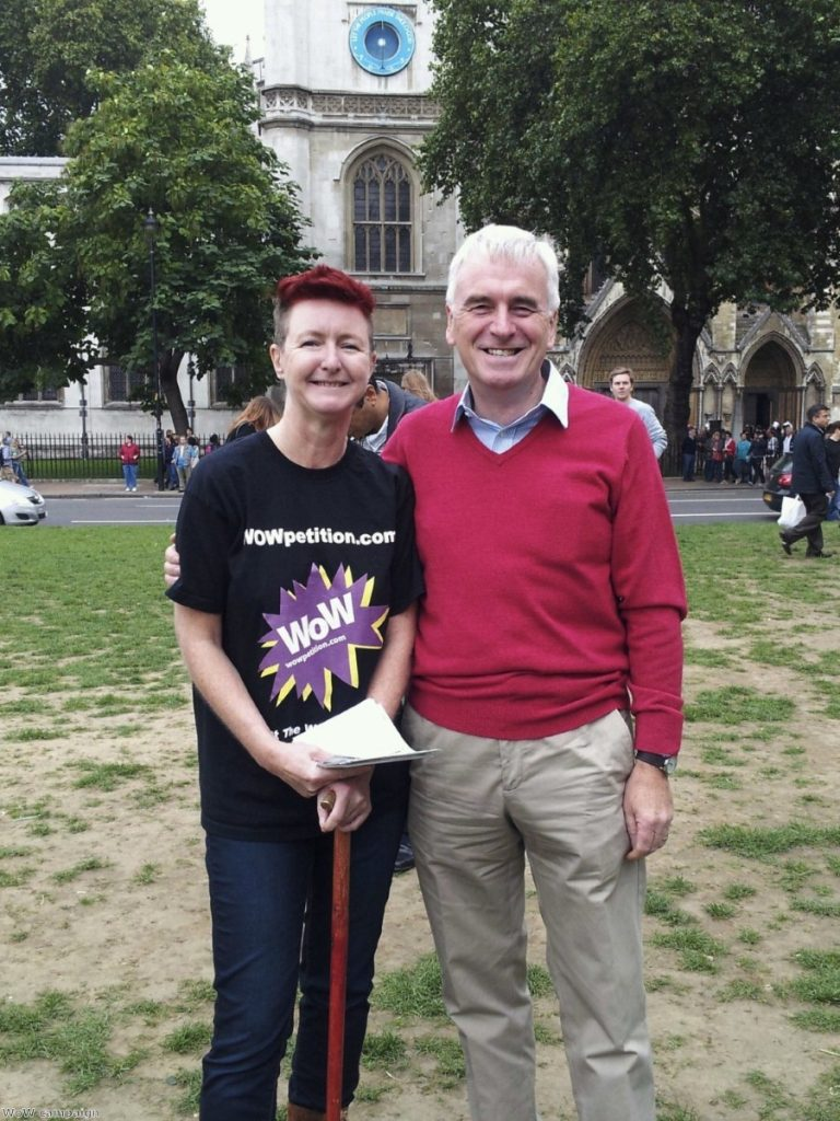 WoW campaigner with Labour MP John McDonnell