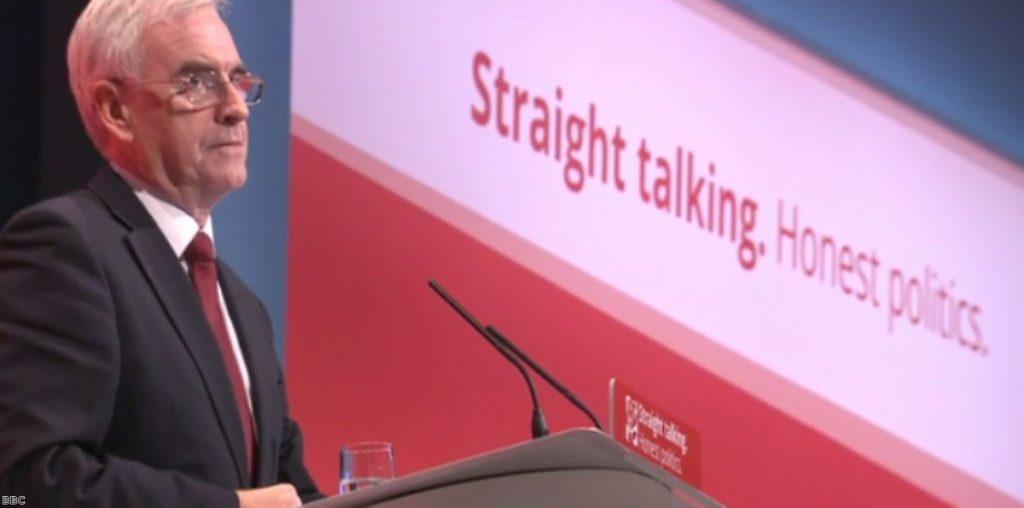"""John McDonnell: """"Straight-talking, honest politics"""""""