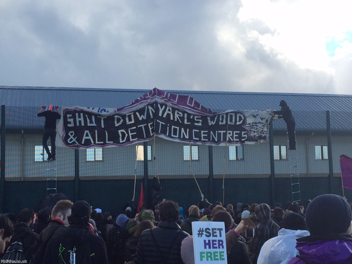 """""""This week more than 100 women in Yarl's Wood detention centre went on hunger strike"""""""