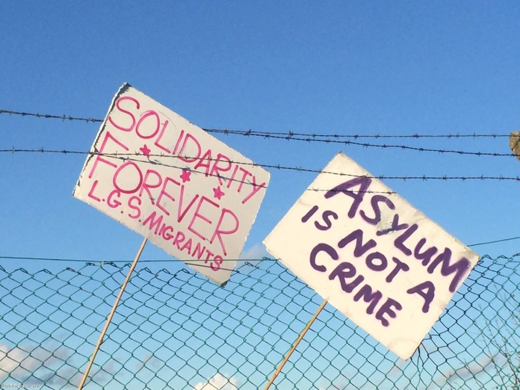 Hundred's of people attended a demonstration at Yarl's Wood detention centre on Saturday