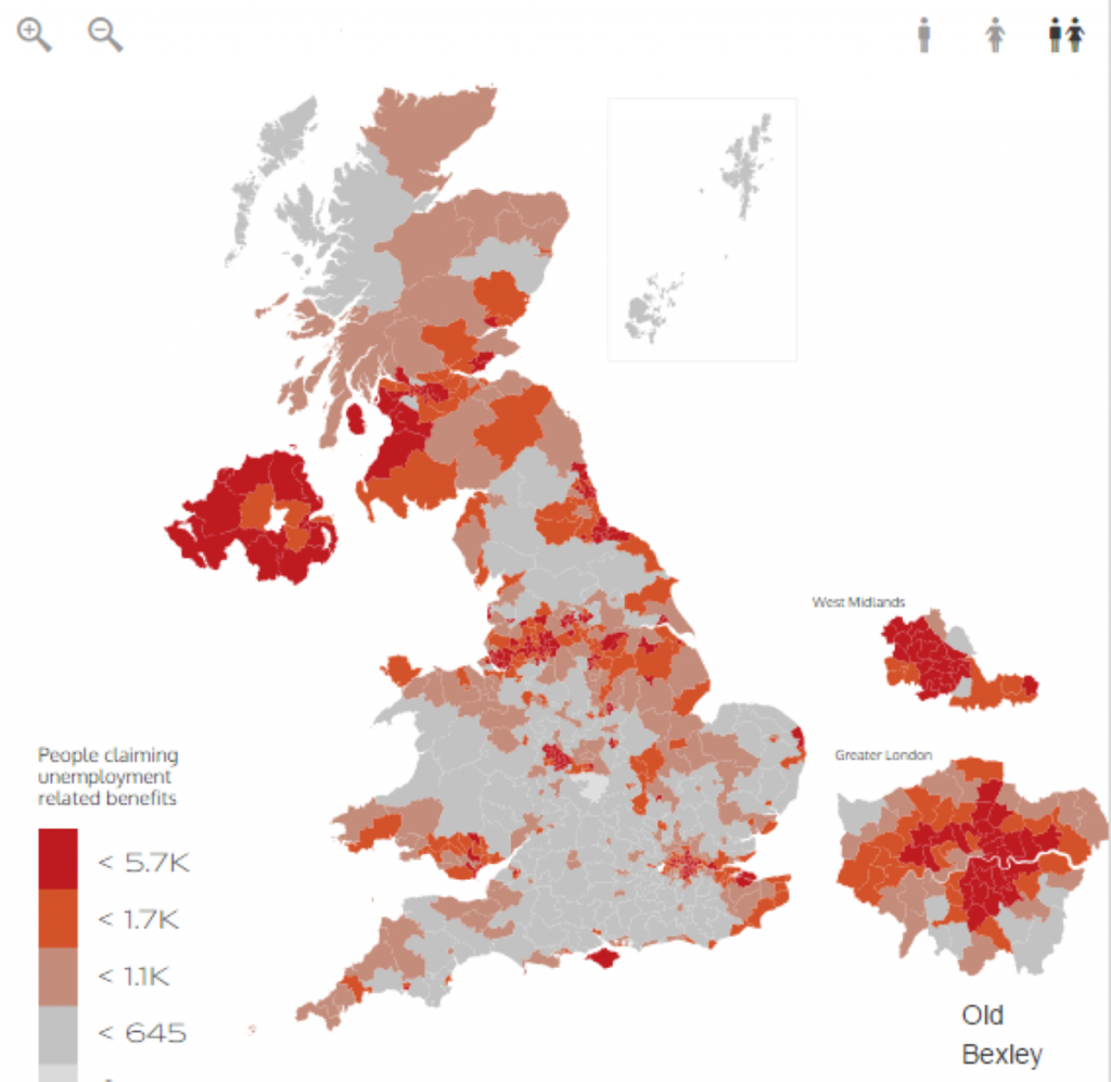 Mapped Out: Unemployment benefits by constituency