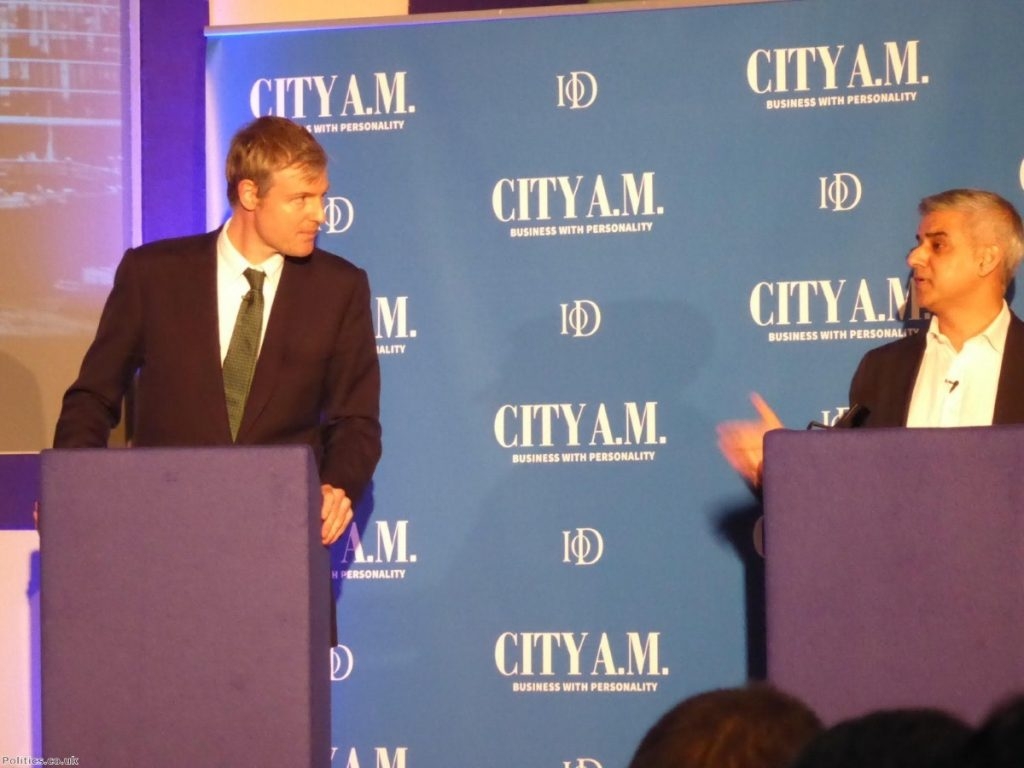 Zac Goldsmith and Sadiq Khan clashed last night over their support for Babar Ahmad
