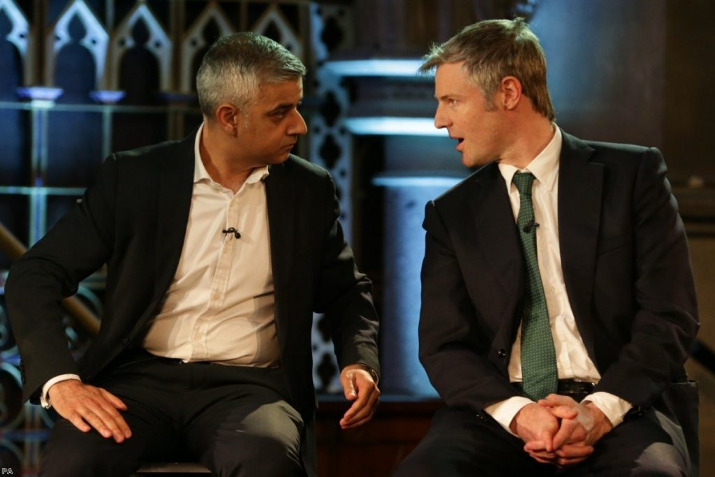 Labour believe Goldsmith's attacks on Sadiq Khan are starting to get through to voters