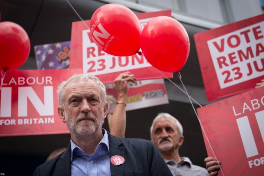 Jeremy Corbyn seems unconvinced by his own arguments for staying in the EU