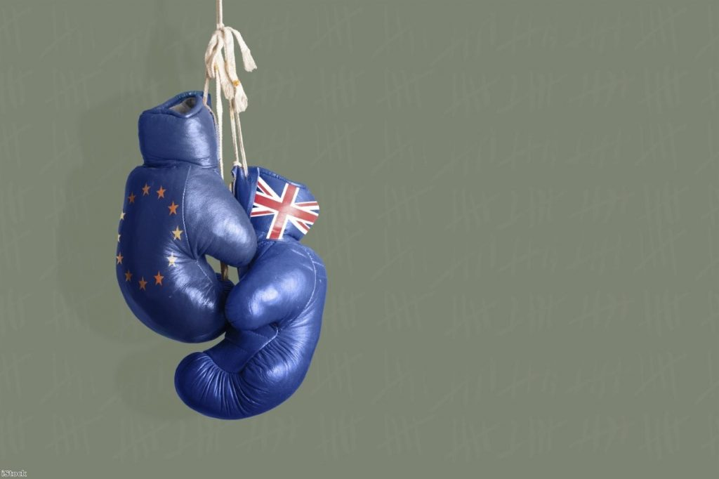"""""""The gloves are off as the Brexit process finally moves from stagey diplomacy to a tussle for public opinion"""""""