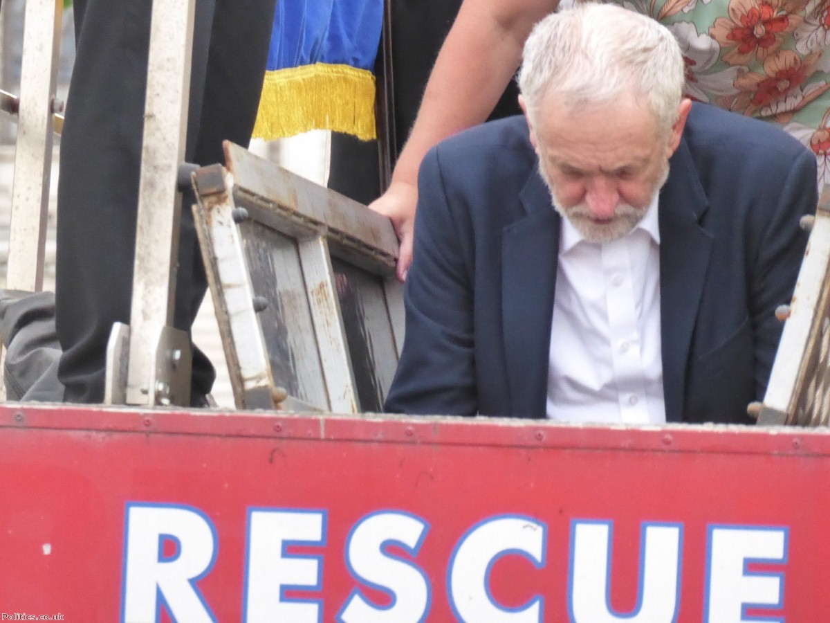 Jeremy Corbyn addressed his supporters outside Parliament after facing down an attempted coup
