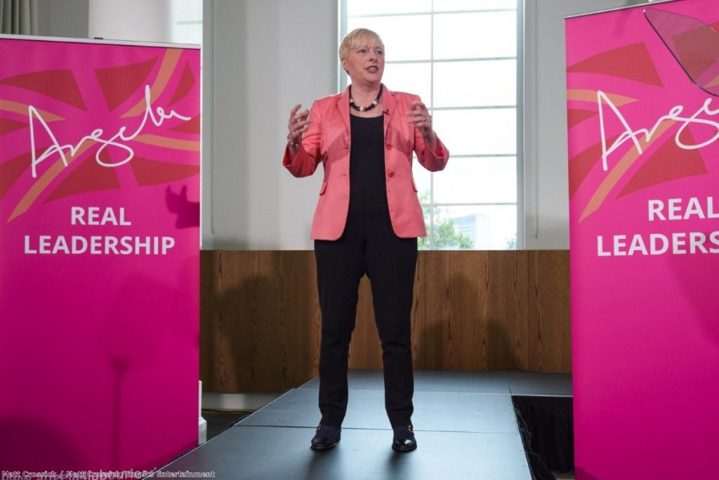 """""""Angela Eagle is running against Corbyn, but as what? An ideas-free zone."""""""