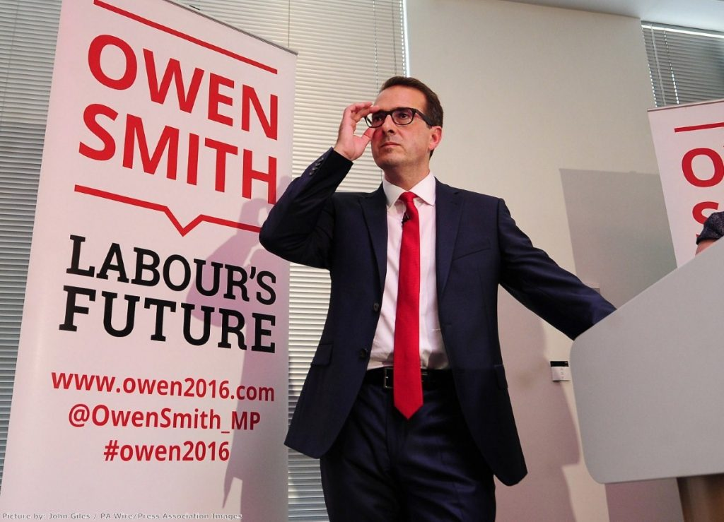 """""""Owen Smith has faced repeated criticism for his time at the pharmaceutical company Pfizer"""""""
