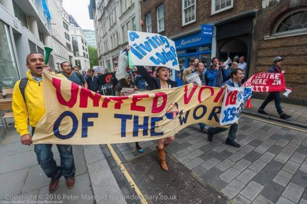"""""""Right across London low paid workers face a similar battle for better pay and conditions"""""""