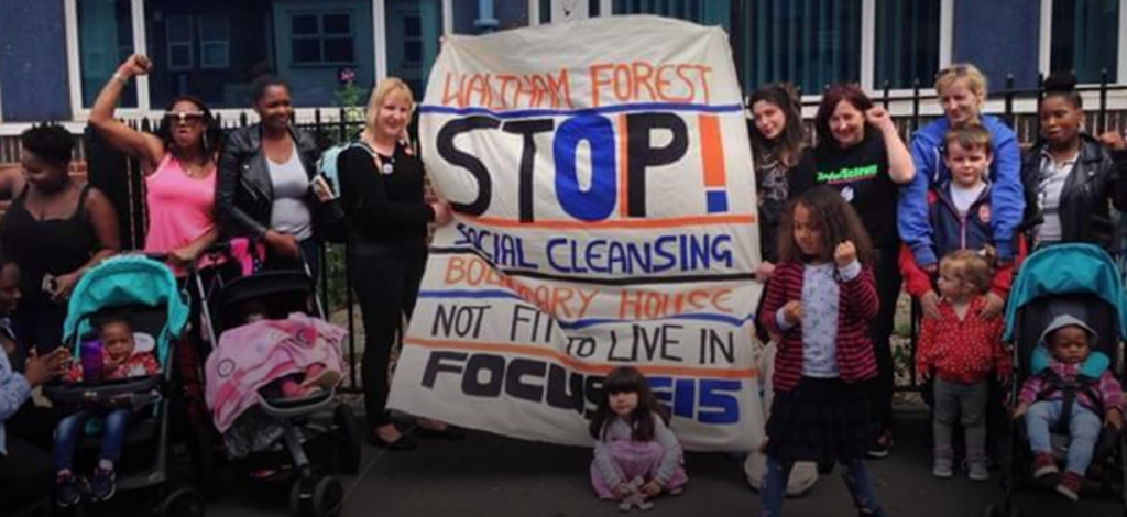 Residents at Boundary House have teamed up with housing activists to highlight the conditions they are living in