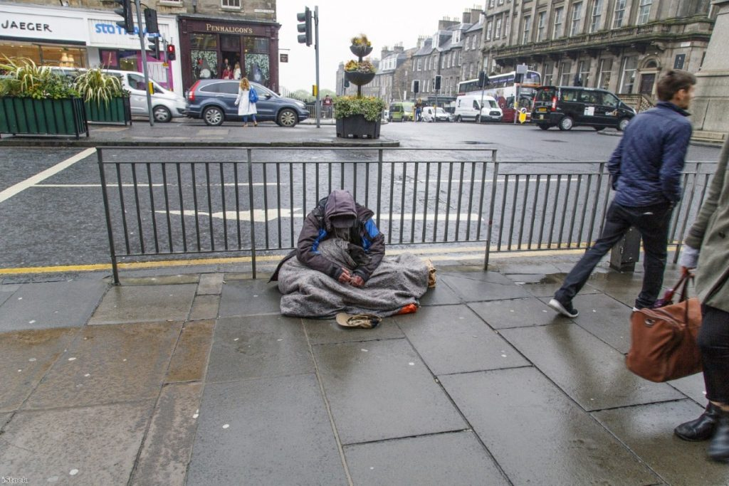 """""""A recent report from the Public Accounts Committee found that there were now around 9,000 people sleeping rough and 78,000 families stuck in temporary accommodation"""""""