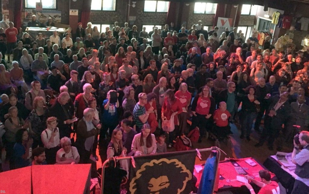 Momentum activists gather at their conference in Liverpool