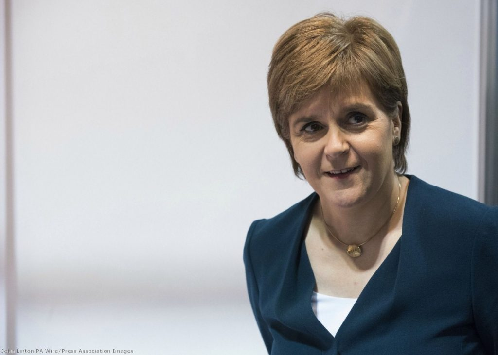"""""""Every few weeks Ms Sturgeon has to both manage expectations while also giving the troops enough to keep morale up"""""""
