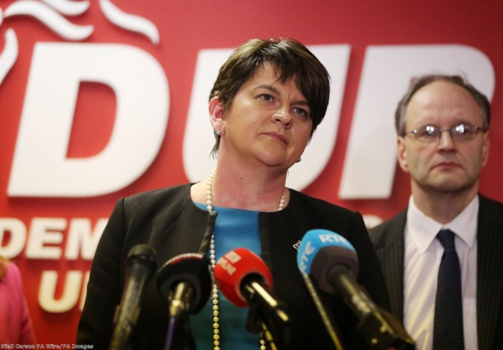 """""""If it's smart, the DUP will be keep its influence over Theresa May as low key as possible."""""""