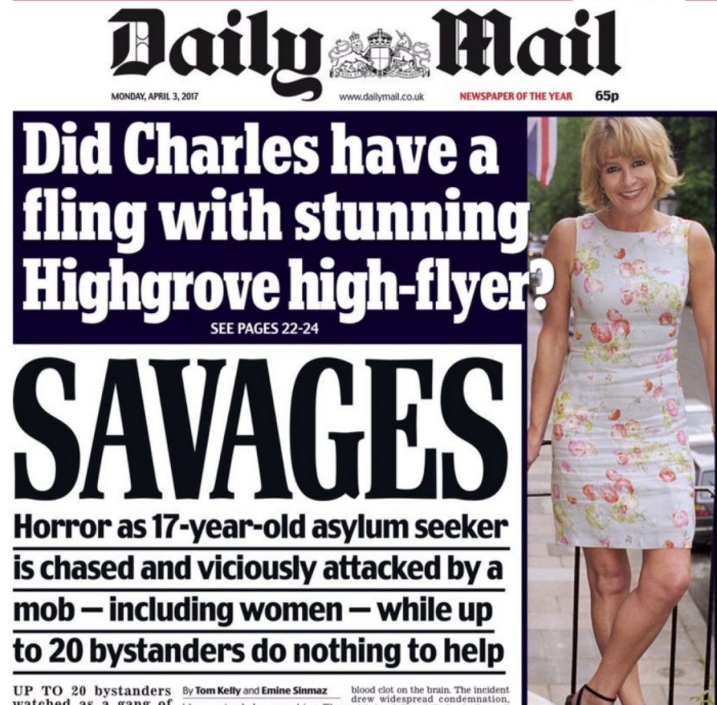 """""""For the likes of the Daily Mail to now be disgusted that such a thing could happen is clear hypocrisy."""""""