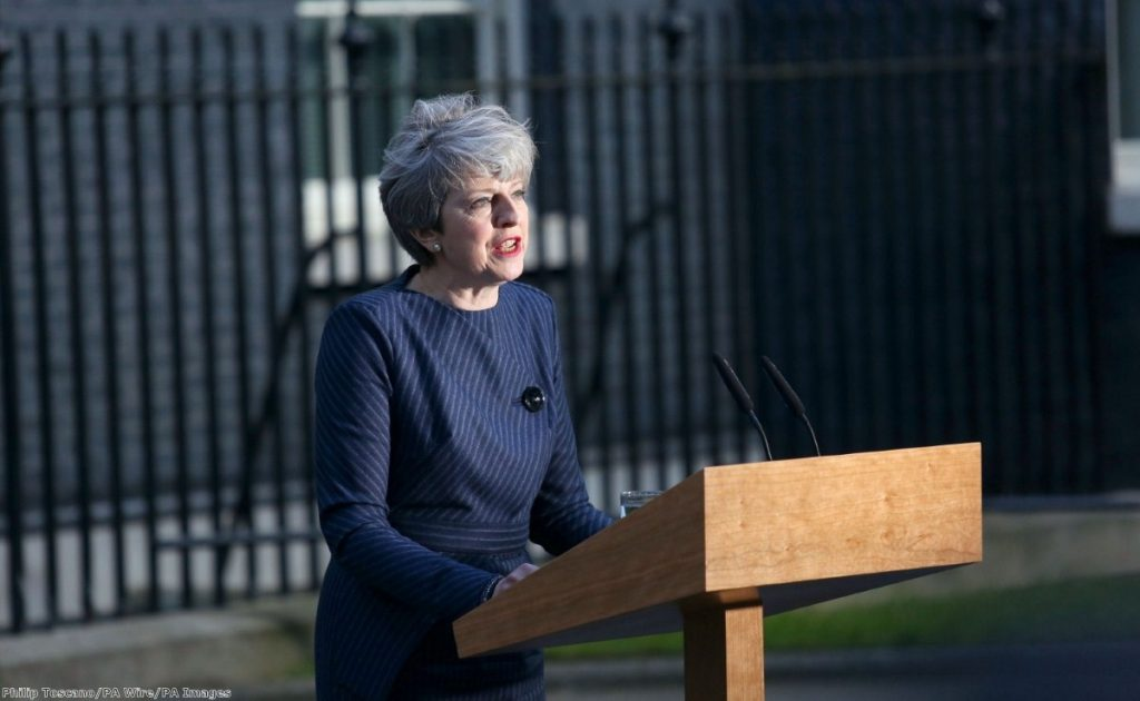 """""""When she announced the snap general election, she targeted Labour, the Lib Dems and the Lords in turn."""""""