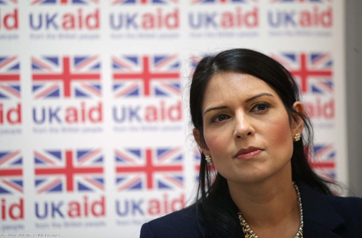 International development secretary Priti Patel sees foreign aid as a way of helping British exporters