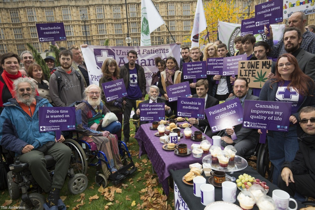 """""""The patients had prepared tea, scones and cakes for the protest. Some of the offerings were 'medicated' with infused cannabis preparations"""""""