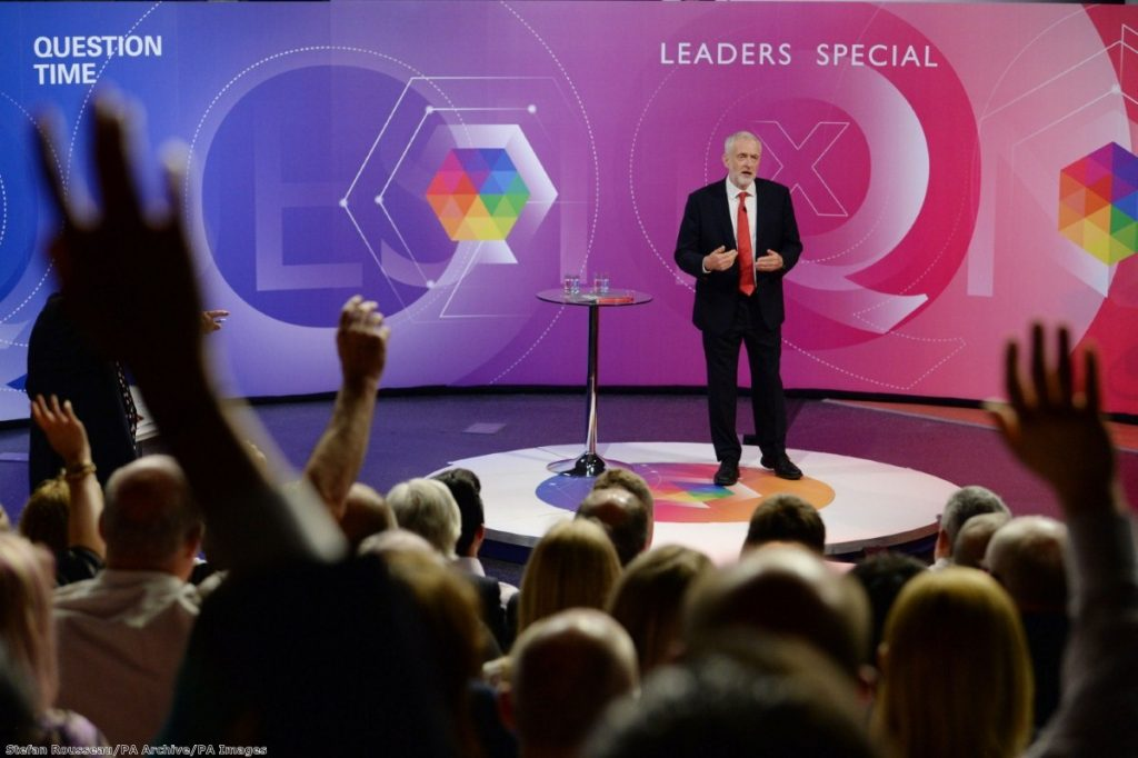 """""""The Labour leader's performance outpolled May among all age groups up to 64 year olds"""""""