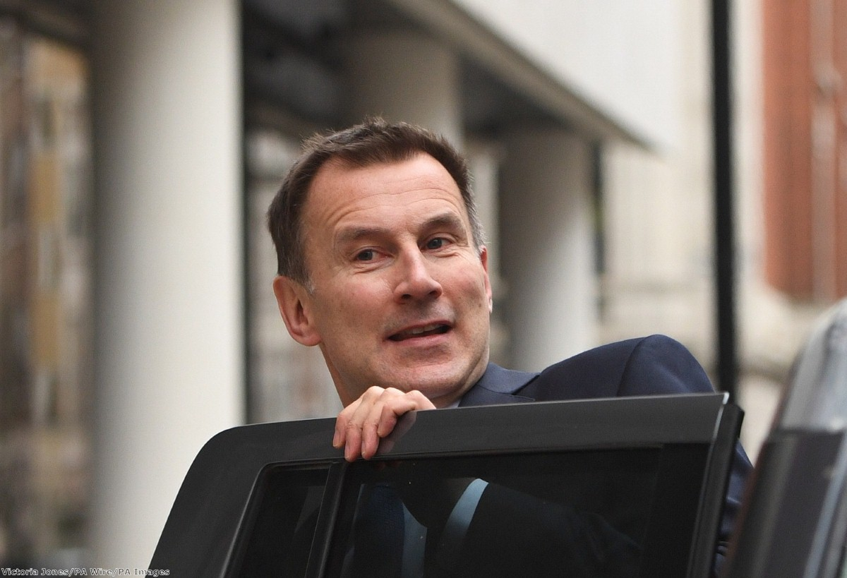 Hunt is planning to lay a raft of secondary legislation - which doesn't require a full parliamentary vote