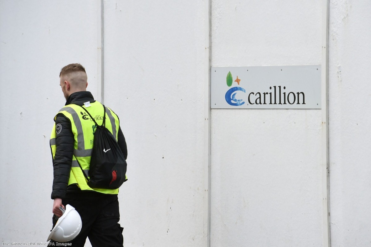 """""""The political, social and financial contagion of Carillion's collapse will unfold for some time"""""""