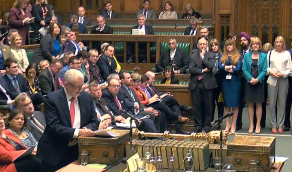 Corbyn during PMQs. The Labour leader's response to the nerve attack has reopened party wounds.