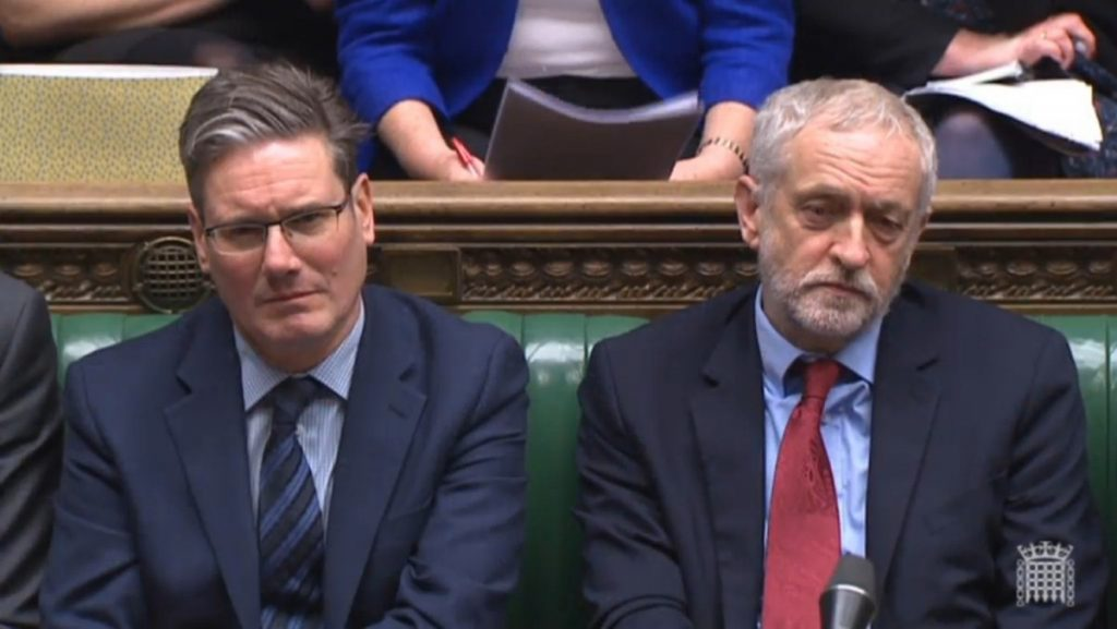 Pick your Brexit: Starmer and Corbyn on the front bench