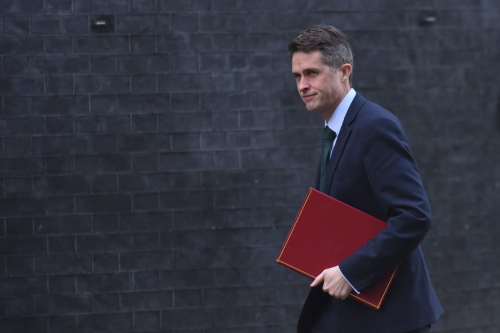 Gavin Williamson arrives at Downing Street to attend the weekly Cabinet meeting in February