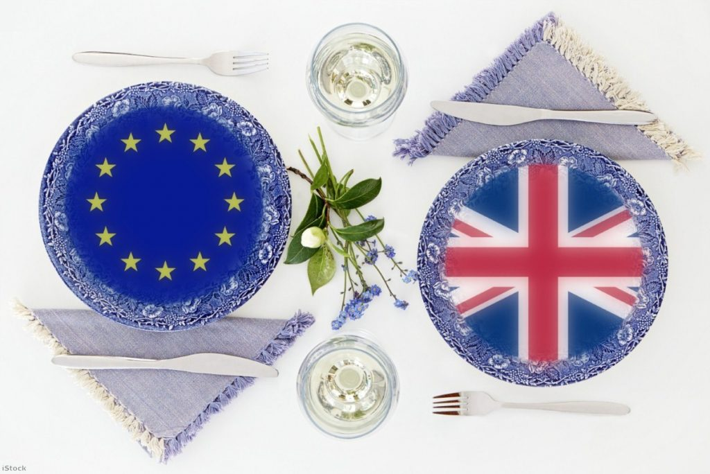 EU and UK over dinner: Rule-of-origin tests will make food exports increasingly complicated  Copyright: iStock/FutroZen