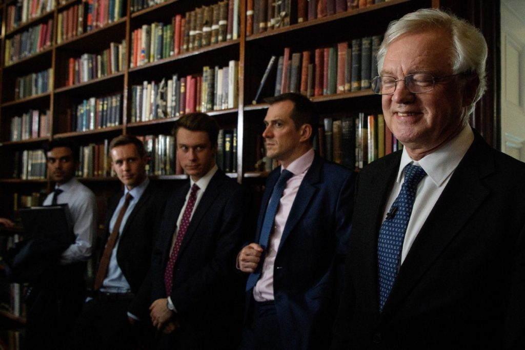 David Davis makes a speech on security cooperation last week. His mock-concession may ultimately make life more difficult for him.