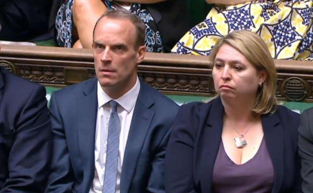 Brexit secretary Dominic Raab during his statement in the Commons unveiling the white paper. Photo: PA.