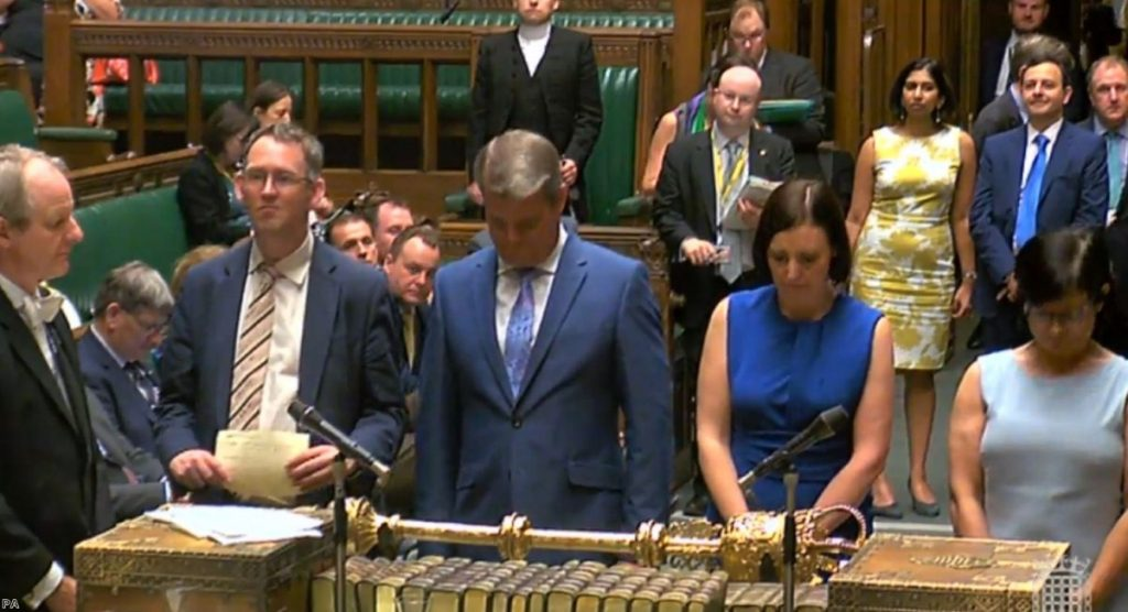 MPs in the House of Commons, London announce the vote in the Government's Brexit-linked Taxation Bill | Copyright: PA