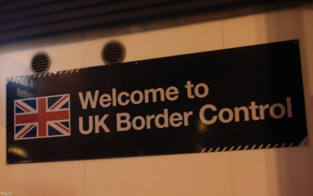 UK border control sign | Copyright: PA